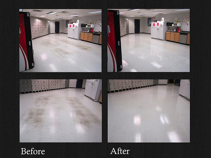floor strip and wax