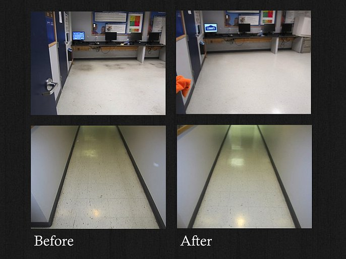 Commercial Flooring Vct Tile Stripping And Wax Services Brighter