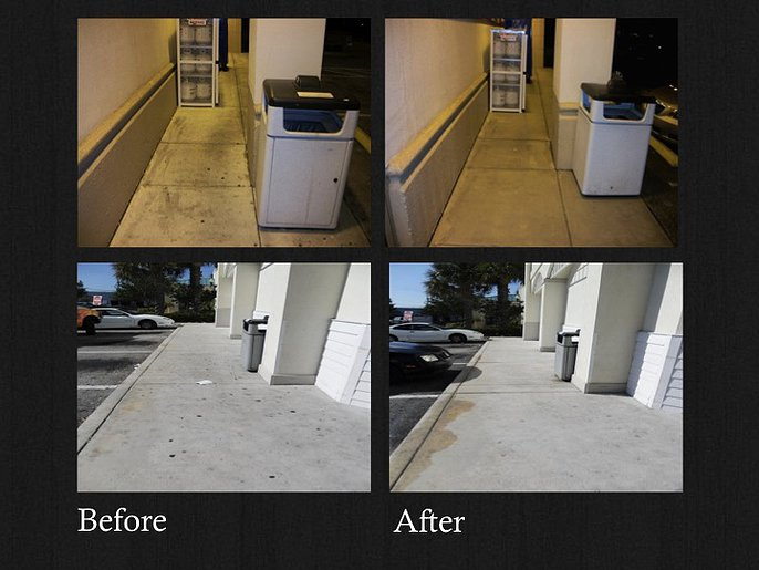 Before & After: Power Washing and Water Reclamation