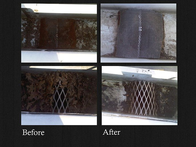 Before & After: Roof / Gutter Inspection & Cleaning